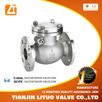 API 6D cast steel non return flanged end swing check valve made in China