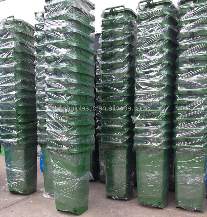 240L outdoor plastic dustbin sale price with wheels