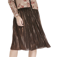 guangzhou ladies 100% polyester latest model pleated skirts women