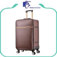 Fashion coffee color men travel trolley soft luggage