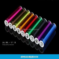 2015 Colorful Lipstick Power Bank rechargeable power charger 2200mAh 2600mAh for Chrismas gifts