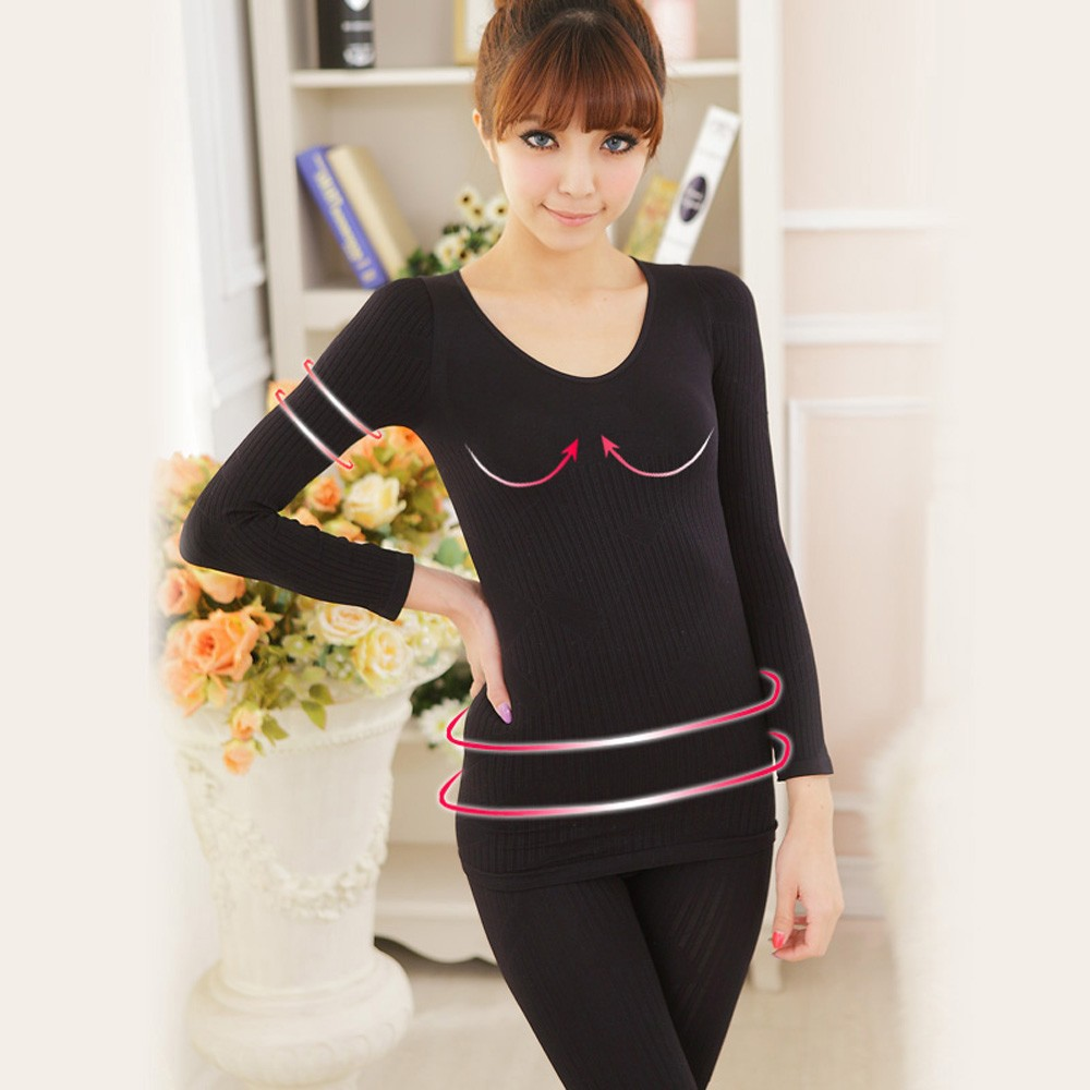 body shaper heated thermal underwear long sleeve breathable underwear