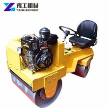 Manufacturer Small Double Drum Vibrating Walk-behind Road Roller/ road roller compactor