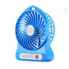 Custom Logo CE RoHS Table Rechargeable Portable Mini Fan with Three Gear Adjustment