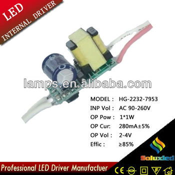 3*1W dc 9-12v led power supply