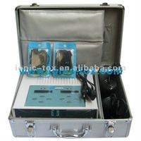 ion cleanse cell detox spa foot bath With two infrared belts and Small LCD screen readouts current curved line