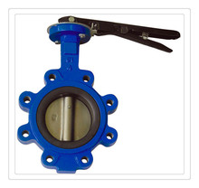Lug Flange Cast Ductile Iron / Stainless Steel handwheel operated Wafer Type Butterfly Valve