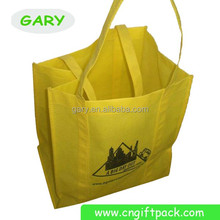 Yellow Two-Tone Grocery Shopping Tote Bag Wholesale with PL Bottom