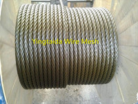 professional pvc coated galvanized 16mm steel wire rope for elevators price