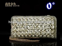 2014 new arrival clutch bag with stones fashional top crystal women purse