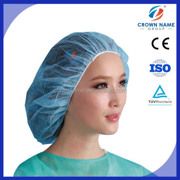 Nonwoven Bouffant Surgical Cap, Nurse Cap, disposable helmet