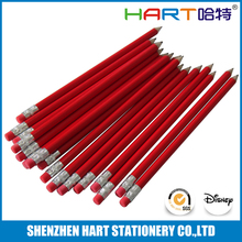 Rubber Blank Red Colored Pencils Bulk