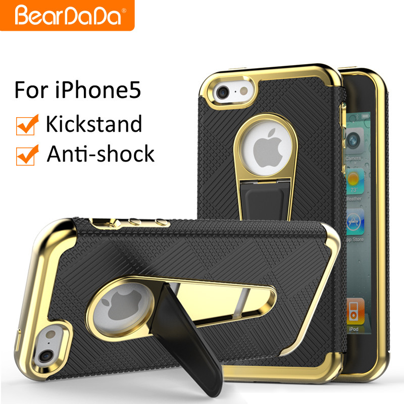 High Quality hybrid bumper case for iphone5