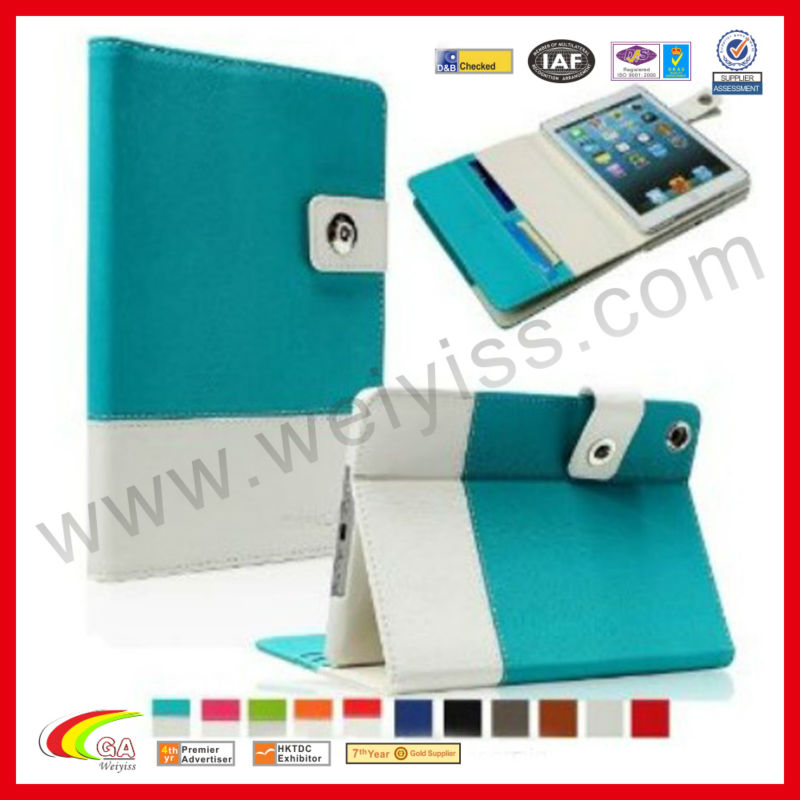 Coach case for ipad air case,leather tablet for ipad air,for ipad air couch wallet case