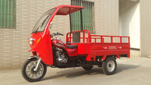 Pedal 200CC Three Wheel Cargo Motorcycle with Cabin Heavy Loading 2000KG