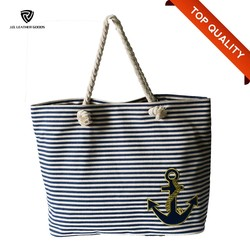 custom canvas tote bag cotton rope handle beach bag for women