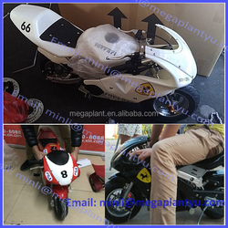 CE 49CC gasoline electric mini racing motorcycle for kids