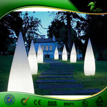 Multi Color Led Cone Air Inflating For Wedding Aisle Entrance