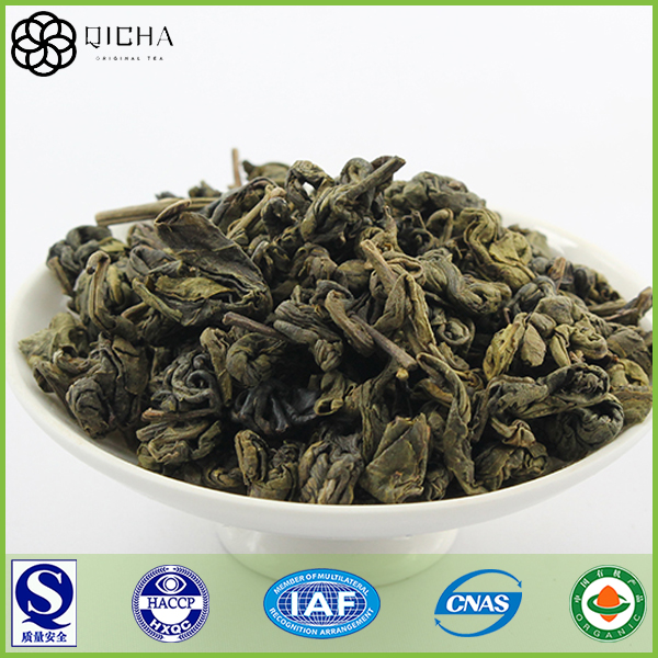 Fresh leaves green tea fixation process original flavored tea
