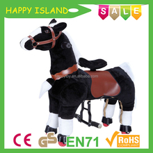 Happy Island EN71 plush ride on horse toys,mechanical horse toy ,mechanical horse racing game
