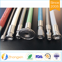 Excellent electrical insulating properties heat resistant flange ss304 braided flexible teflon ptfe hose