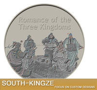Custom limited edition Chinese dynasty Roman of Three Kingdom convex 3D coin