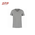 Good Quality Custom Logo V Neck T Shirt