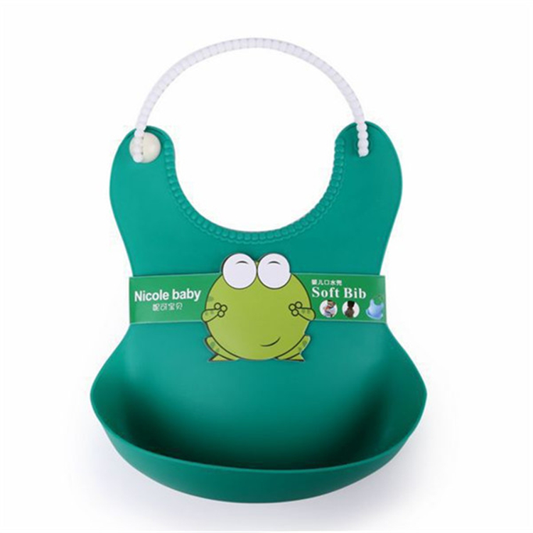 Factory price cheap food grade silicone rubber waterproof custom baby bibs
