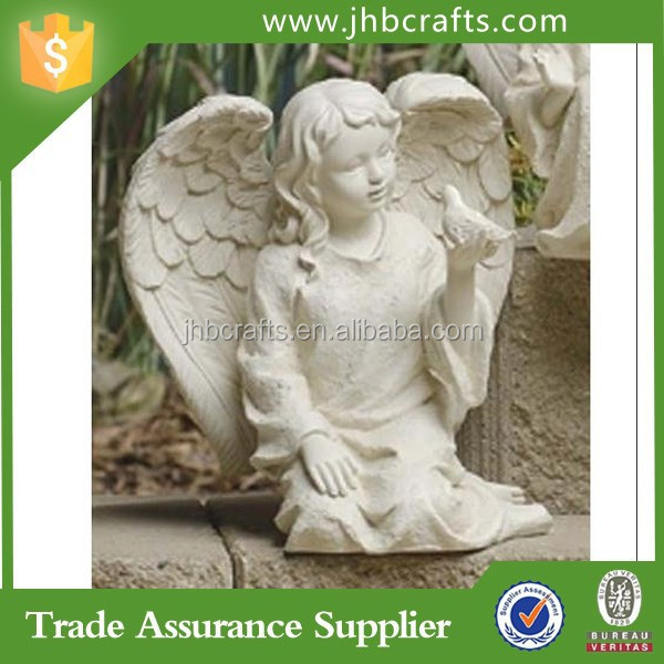 Factory Direct Angel and Bird Outdoor Garden Figures Of Polyresin