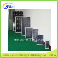 solar panel form 1W to 300W with high efficiency and lower price