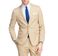 2016 New style 100% wool khaki wedding dress suit