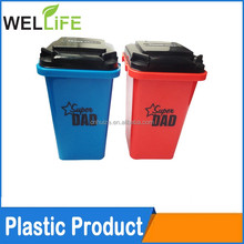 factory wholesales Custom Printing Home Mini Plastic Desktop Trash Can