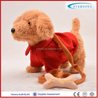cheap lifelike singing walking realistic plush toy dog robot toy dog