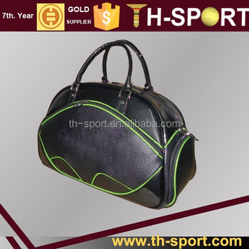 black pu leather Golf Equipment Bag