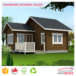 Wooden Log Cabin Prefabricated wood house with terrace low cost made in China for Export KPL-003