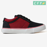 2018 Hot sale breathable espadrille canvas shoes for children and kids rubber sole casual flat red and black shoes for boys