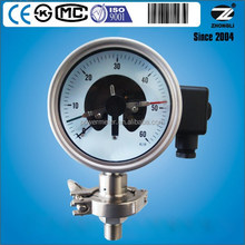4 inch clamp connection diaphragm seal electric contact pressure gauge 60 psi