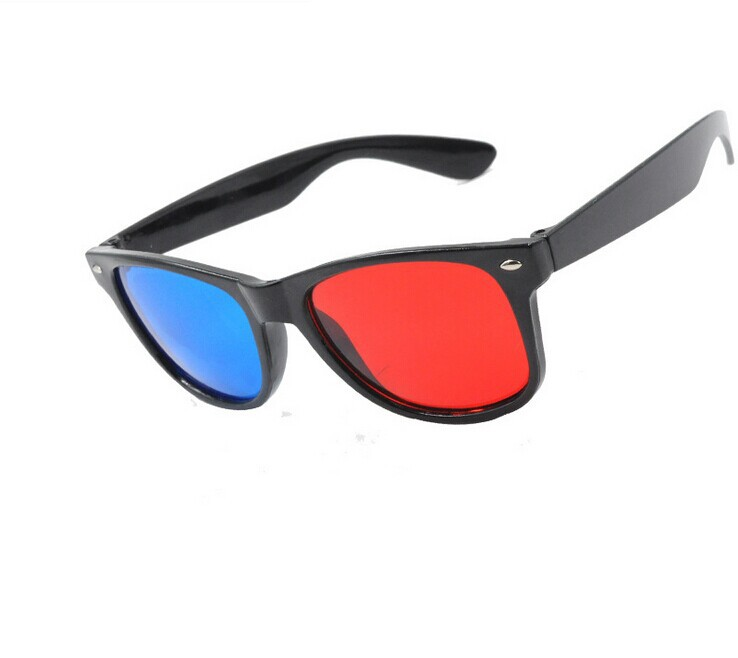 Woxo New Plastic 3dglasses Movie Watching Or Playing Cyan Red/Blue Lens 3D Glasses