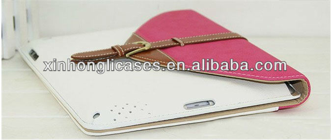 HOT leather Cover for ipad 2/3/4 leather cover