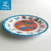 Food Grade Christmas Design Melamine Round Plate
