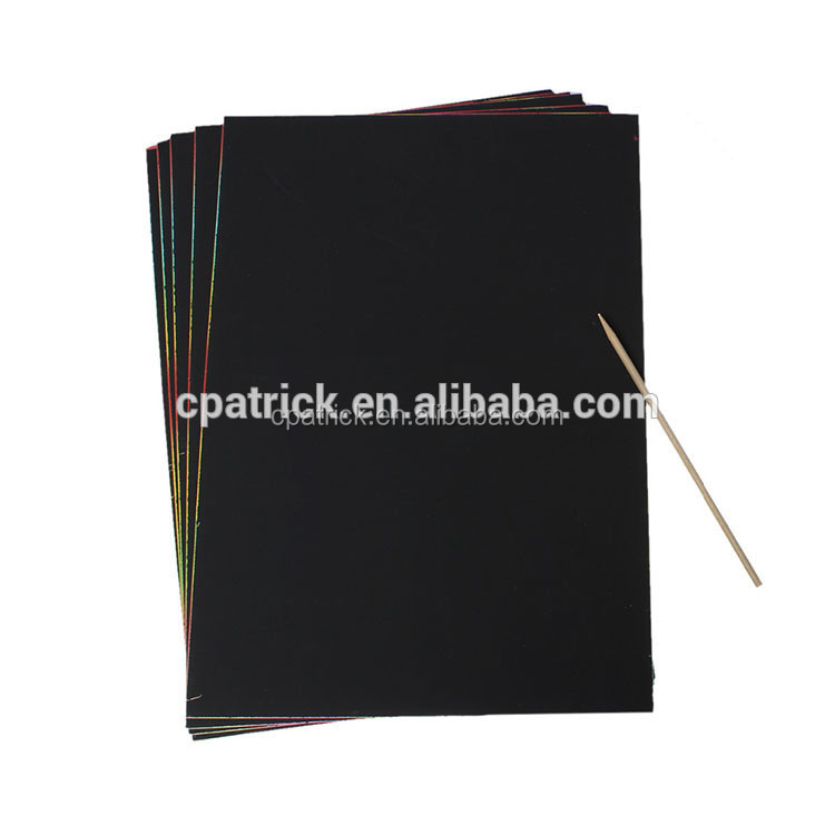Wholesale Prices Rectangle Black Paper Art Craft Scratch Paper