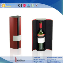 round tube magnum cardboard wine gift box,magnetic wine bottle box