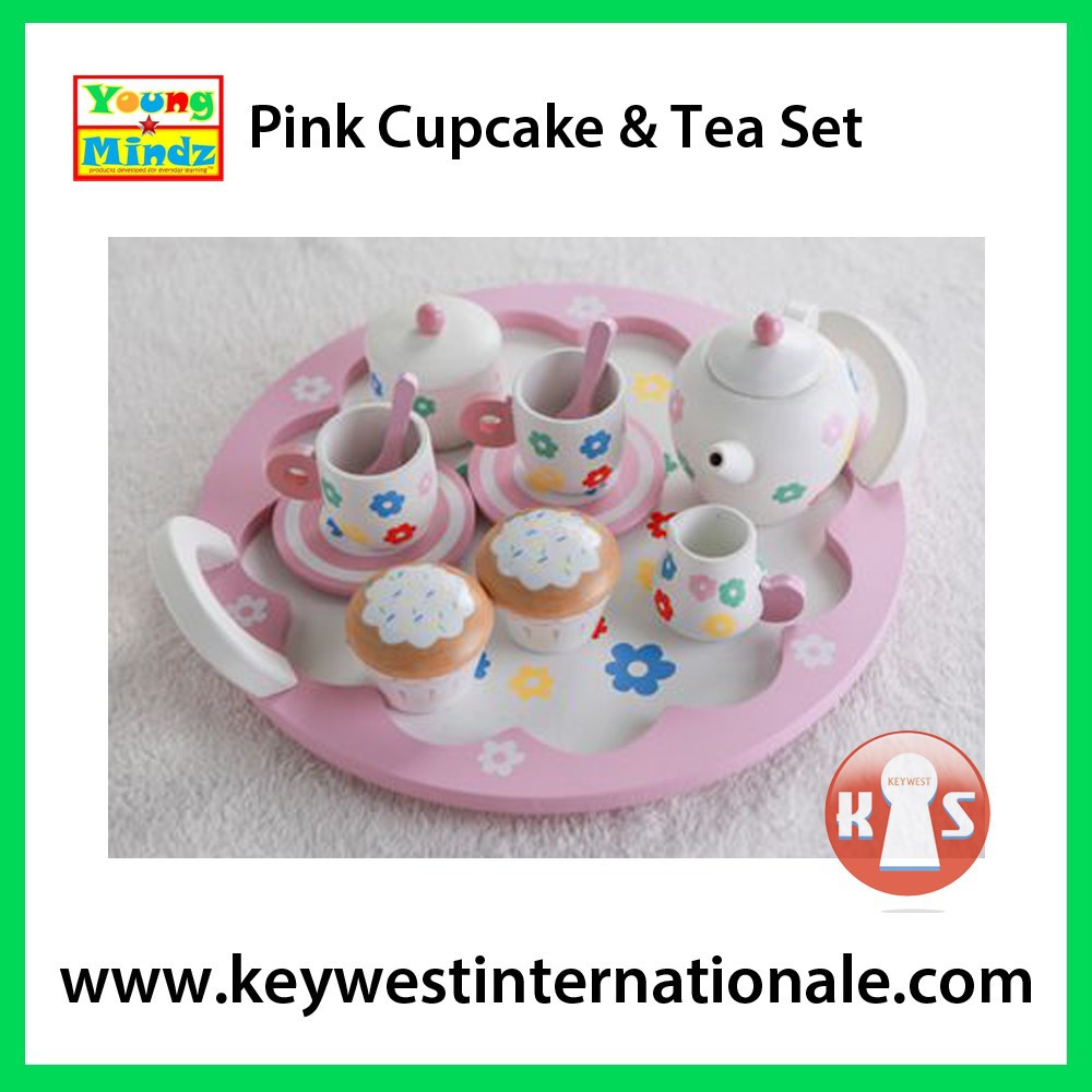 Pink Cupcake and Tea Set