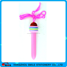 Party Gift Promotion Gift Lollipop Pens with Hang rope for promotional