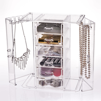 Transparent crystal acrylic jewelry box for necklace jewelry