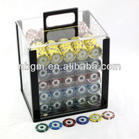 1000 pc Acrylic Poker Chip Set Case