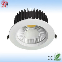 Aluminum alloy material die-casting 10 inch 20W/24W cob led light downlight, 240mm