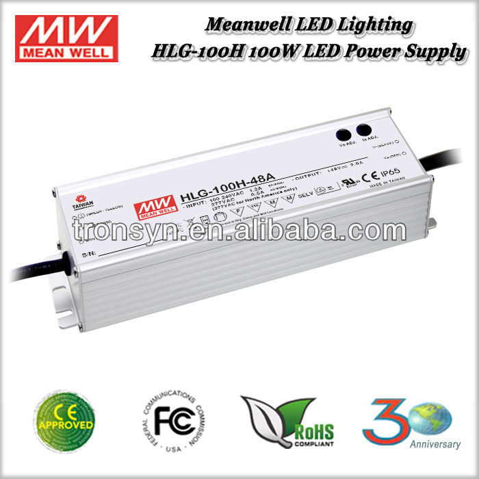 Meanwell HLG-100H-30 (100W 30V 3.2A) 100W Single Output Variable Voltage DC Power Supply