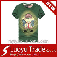 Custom durable latest cartoon t-shirt