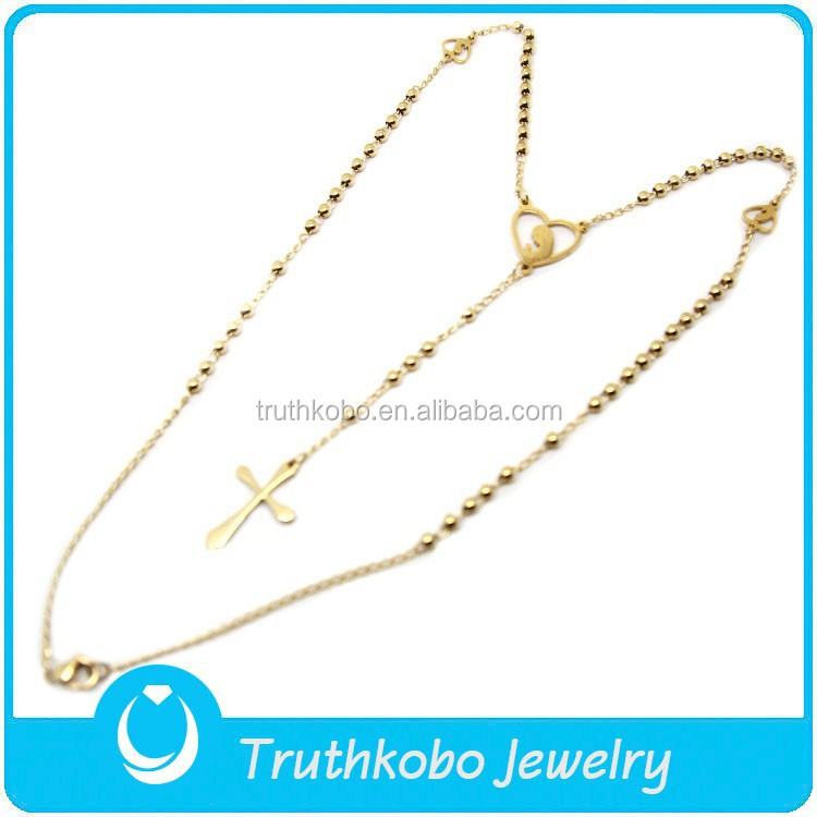 TKB-N0028 Wholesale Rosary Parts Long Necklace 2015 Catholic Religious Gifts for Women